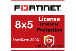 Bản quyền phần mềm Fortigate-200D 5 Year Enterprise Protection (8x5 FortiCare plus Application Control, IPS, AV, Web Filtering, Antispam, FortiSandbox Cloud)