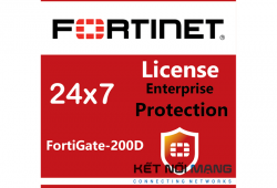 Bản quyền phần mềm Fortigate-200D 1 Year Enterprise Protection (24x7 FortiCare plus Application Control, IPS, AV, Web Filtering, Antispam, FortiSandbox Cloud)