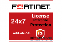 Bản quyền phần mềm FortiGate-51E 1 Year Enterprise Protection (24x7 FortiCare plus Application Control, IPS, AV, Web Filtering, Antispam, FortiSandbox Cloud)