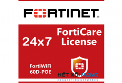 Bản quyền phần mềm 1 Year 24x7 FortiCare Contract for FortiWiFi-60D-POE