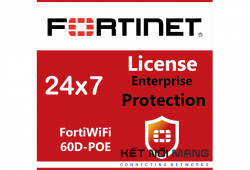Bản quyền phần mềm FortiWiFi-60D-POE 3 Year Enterprise Protection (24x7 FortiCare plus Application Control, IPS, AV, Web Filtering, Antispam, FortiSandbox Cloud)