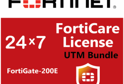 Bản quyền phần mềm 1 Year UTM Bundle (24x7 FortiCare plus Application Control, IPS, AV, Botnet IP/Domain, Web Filtering and Antispam Services) for FortiGate-200E